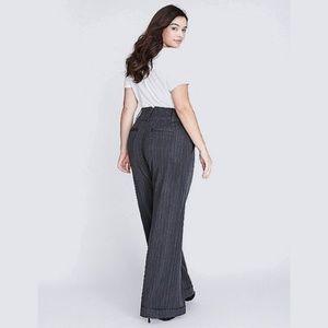 lane bryant ∙ lena wide leg pinstripe trouser